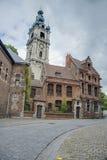 Belfry of Mons in Belgium. Stock Photo