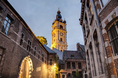 Belfry of Mons in Belgium. Stock Photo