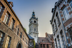Belfry of Mons in Belgium. Royalty Free Stock Photography