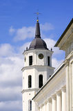 Belfry near Vilnius Cathedral Basilica of Saints Stanislaus and Stock Photo