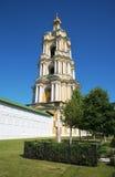 Belfry Novospassky monastery church of St. Sergius of Radonezh Royalty Free Stock Photography