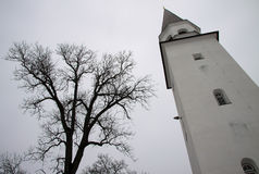 Belfry Of Old Lutheran Church Of St. Berthold In Sigulda, Latvia Royalty Free Stock Photo
