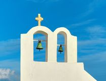 Belfry in Oia village, Santorini island, Greece Royalty Free Stock Photo