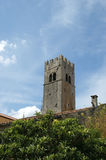 Belfry Old Lutheran Church. The Town Of Motovun, Croatia Stock Images