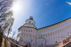 Belfry over the gate of the Voskresensky New Jerusalem Monastery Stock Photo