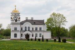 Belfry of the parish house in Brest Belarus stock photo