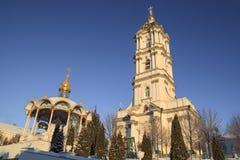 Belfry Pochayiv Lavra, Ukraine. Belfry Pochayiv Lavra on a clear winter day, Ukraine Royalty Free Stock Images