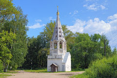 Belfry of Presentation of the Virgin Mary Church in Bezhetsk Stock Images