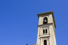 Belfry of Saint Gil and Saint Anne in Granada. Royalty Free Stock Photography