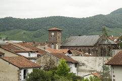 Belfry of Saint Jean Pied de Port Royalty Free Stock Images