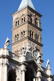 Belfry of Saint Mary Major Basilica in Rome Stock Image