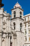 The belfry of San Cristobal Cathedral, the Havana Cathedral, in Stock Image