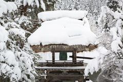 Belfry in Shirakawa go Royalty Free Stock Images