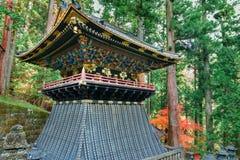 Belfry (Shoro) at Taiyuinbyo - the Mausoleum of Tokugawa Iemitsu Royalty Free Stock Images