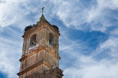 Belfry Of spanish church Royalty Free Stock Image