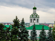 Belfry of St. John the Baptist Monastery in Kazan. Royalty Free Stock Images