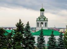 Belfry of St. John the Baptist Monastery in Kazan. Royalty Free Stock Images