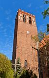 Belfry of St. John Cathedral (1384) in Kwidzyn town, Poland Royalty Free Stock Photo