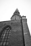 Belfry of the St. Peter's Church in Riga. Stock Images