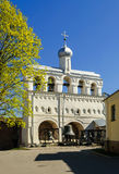 The belfry of St. Sophia Cathedral in Novgorod Stock Photography