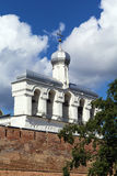 Belfry of St. Sophia Cathedral, Veliky Novgorod. Belfry of Saint Sophia Cathedral is a monument of architecture of the 15th 18th centuries in Veliky Novgorod stock photos