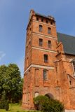Belfry of St. Stanislaus church (1521) in Swiecie town, Poland Stock Photos