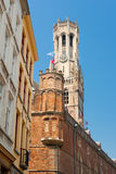Belfry tower in Bruges Royalty Free Stock Photography