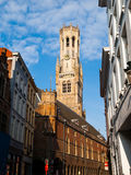 Belfry Tower of Bruges Stock Photography