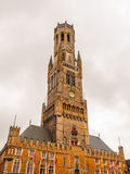 Belfry Tower of Bruges Royalty Free Stock Images