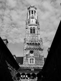Belfry Tower of Bruges Stock Photo
