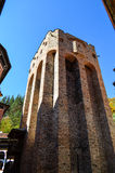 Belfry tower. Belfry  tower  in  Rila Monastery,Bulgaria in the autumn Royalty Free Stock Photos