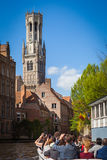 Belfry Tower and Rozenhoedkaai, Bruges Royalty Free Stock Image