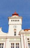 Belfry of Town Hall in Stara Boleslav, Czech Republic. Belfry of the Town Hall in Marianske Square of Stara Boleslav town, Czech Republic. Opened in 1911 in the Stock Image