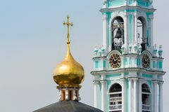 Belfry of the Trinity Lavra of St. Sergius Stock Image
