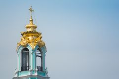 Belfry of the Trinity Lavra of St. Sergius Stock Images