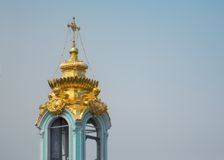 Belfry of the Trinity Lavra of St. Sergius Stock Photo