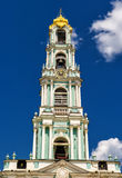 Belfry in Trinity Sergius Lavra, Sergiyev Posad Stock Image