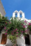 Belfry with two bells in Parikia, Paros Stock Photography
