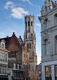 Belfry und Stadtbild von Brügge/von Brügge, Belgien Lizenzfreies Stockfoto