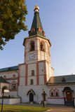 Belfry of Valday Iversky Monastery, which is Russian Orthodox mo Royalty Free Stock Photo