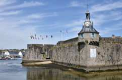 Belfry of Ville Close of Concarneau in France Stock Photography