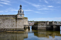 Belfry of Ville Close of Concarneau in France Stock Images