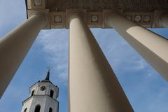 Belfry of Vilnius Cathedral royalty free stock photo