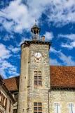 Belfry von Rathaus von Martel, Los, Midi-Pyrénées, Frankreich Lizenzfreie Stockfotografie