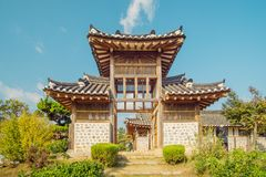 A belfry was built with Korean traditional style. it`s al so gate