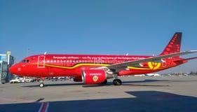 ` Belga di Trident del ` dell'aereo di linea aerea, aeroporto di Borispil immagine stock