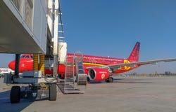 ` Belga di Trident del ` dell'aereo di linea aerea, aeroporto di Borispil fotografia stock