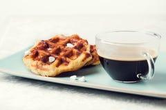 Belga hecho en casa Lieja o galletas del azúcar Fotografía de archivo libre de regalías