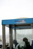 Belgacom telefonask i Belgien Arkivfoton