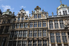 België, schilderachtig Grand Place van Brussel Stock Afbeelding